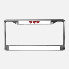 3 Hearts License Plate Frame