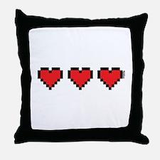 3 Hearts Throw Pillow