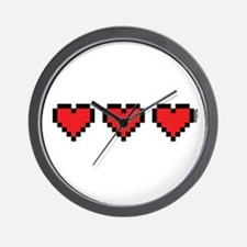 3 Hearts Wall Clock