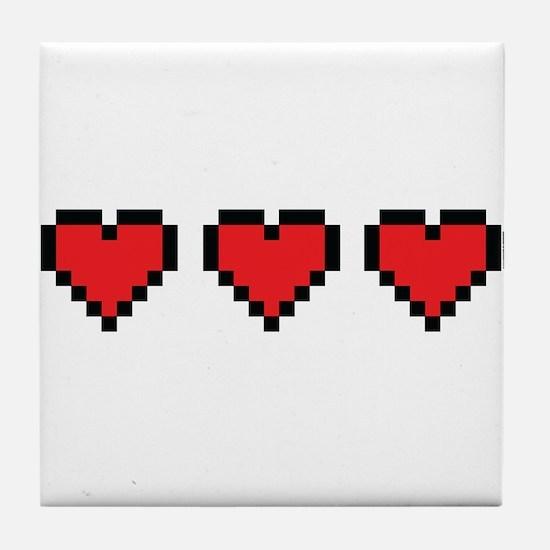 3 Hearts Tile Coaster