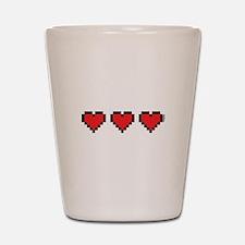 3 Hearts Shot Glass