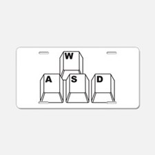 WASD Aluminum License Plate