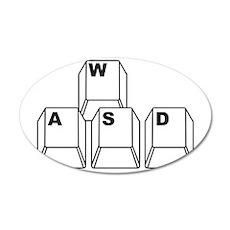 WASD Wall Sticker