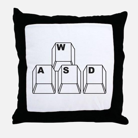 WASD Throw Pillow