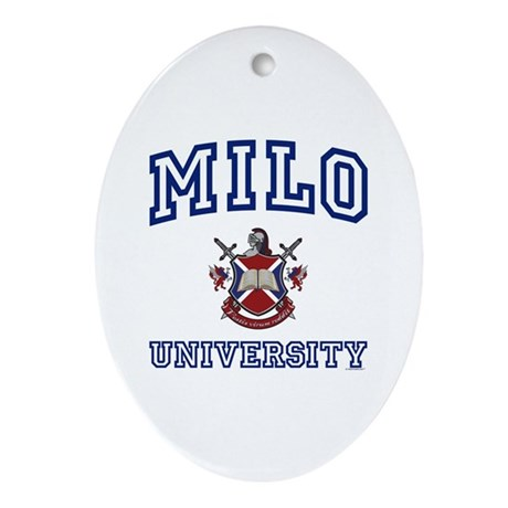 MILO University Oval Ornament