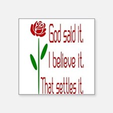 Red Rose God Said It Sticker