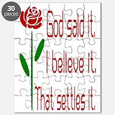 Red Rose God Said It Puzzle