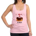 I Love Cake Racerback Tank Top