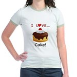 I Love Cake Jr. Ringer T-Shirt