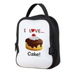 I Love Cake Neoprene Lunch Bag
