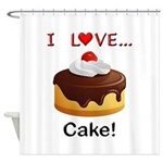 I Love Cake Shower Curtain