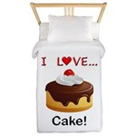 I Love Cake Twin Duvet