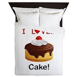 I Love Cake Queen Duvet