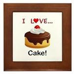 I Love Cake Framed Tile