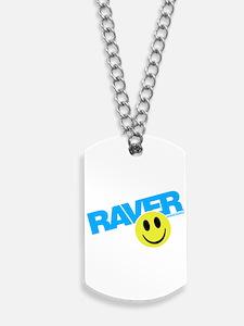 Raver Smiley Dog Tags