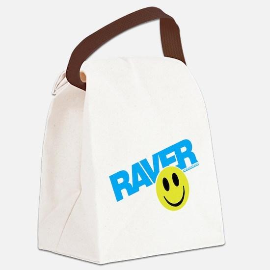 Raver Smiley Canvas Lunch Bag