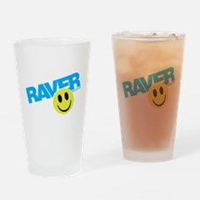 Raver Smiley Drinking Glass