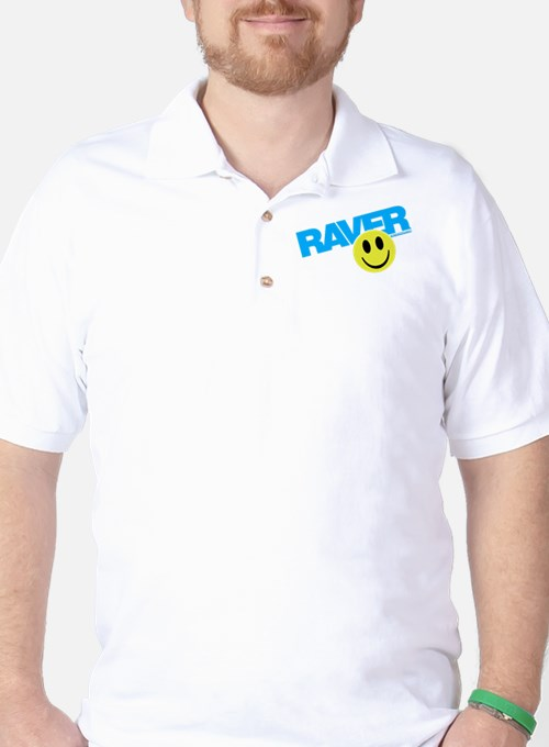Raver Smiley Golf Shirt