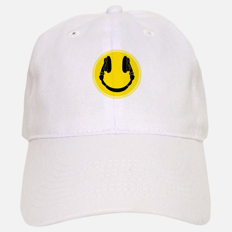 DJ Headphones Smiley Baseball Baseball Cap