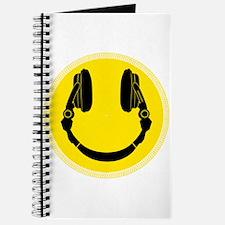 DJ Headphones Smiley Journal
