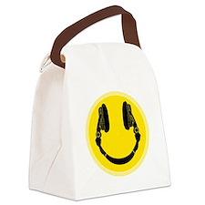 DJ Headphones Smiley Canvas Lunch Bag
