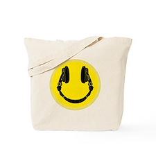 DJ Headphones Smiley Tote Bag