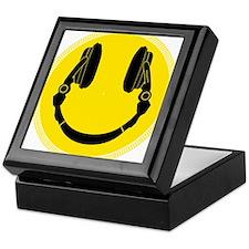 DJ Headphones Smiley Keepsake Box