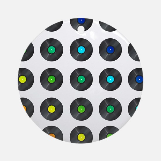 Vinyl Record Wall Art Ornament (Round)