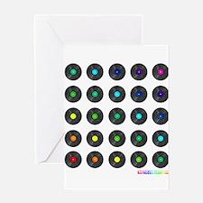 Vinyl Record Wall Art Greeting Cards