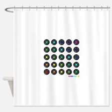 Vinyl Record Wall Art Shower Curtain