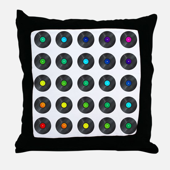 Vinyl Record Wall Art Throw Pillow