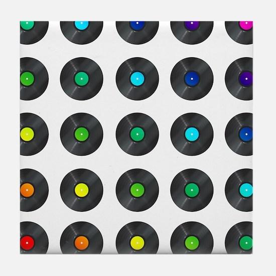 Vinyl Record Wall Art Tile Coaster