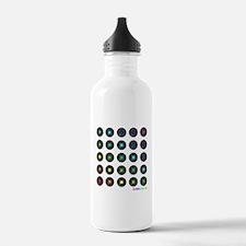 Vinyl Record Wall Art Sports Water Bottle