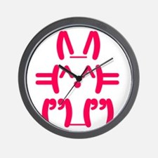 Ascii Rabbit Bunny Wall Clock