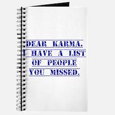 Dear Karma I have A List Journal