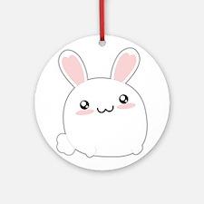 Fat Kawaii Bunny Ornament (Round)