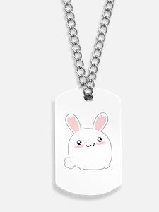 Fat Kawaii Bunny Dog Tags