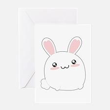 Fat Kawaii Bunny Greeting Cards