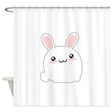 Fat Kawaii Bunny Shower Curtain