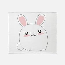 Fat Kawaii Bunny Throw Blanket