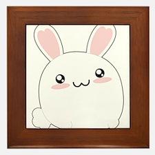 Fat Kawaii Bunny Framed Tile