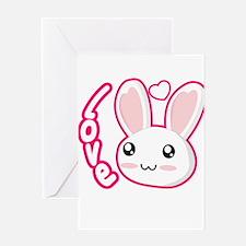 Love Rabbit Greeting Cards