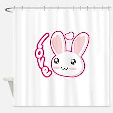 Love Rabbit Shower Curtain