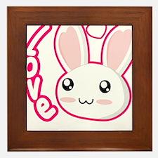 Love Rabbit Framed Tile