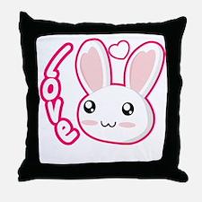 Love Rabbit Throw Pillow