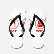 Eat Sleep Rock Flip Flops