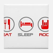Eat Sleep Rock Tile Coaster