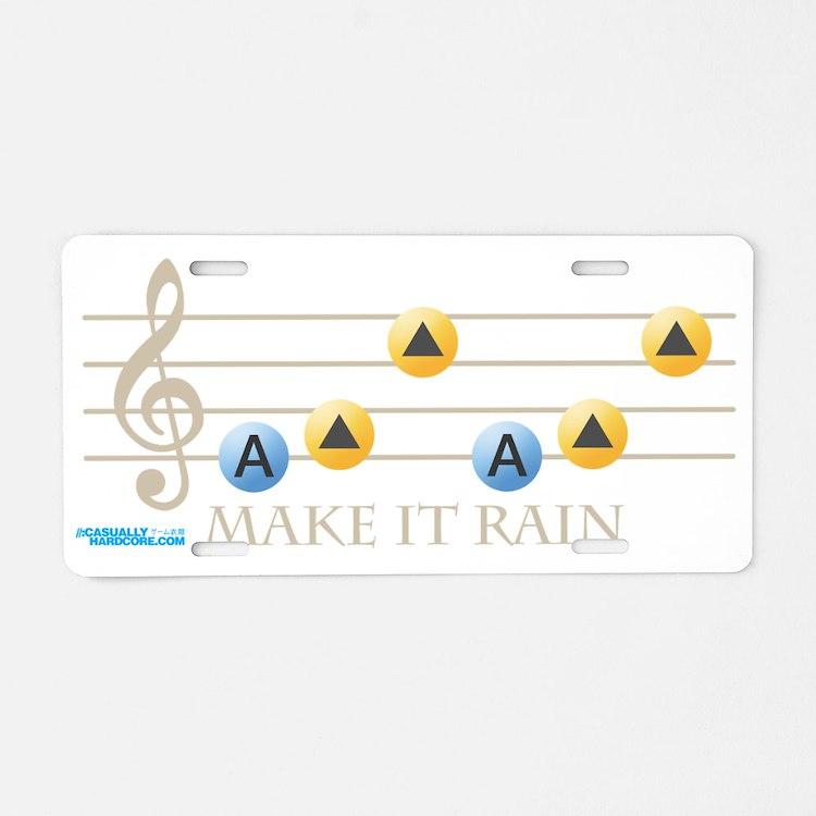 Make It Rain Aluminum License Plate