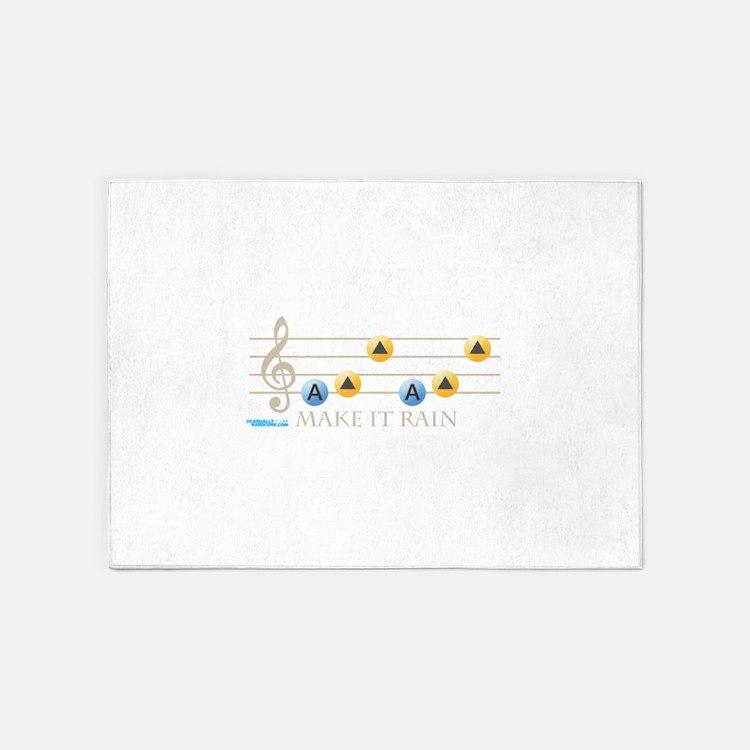 Make It Rain 5'x7'Area Rug