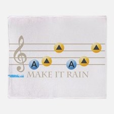 Make It Rain Throw Blanket